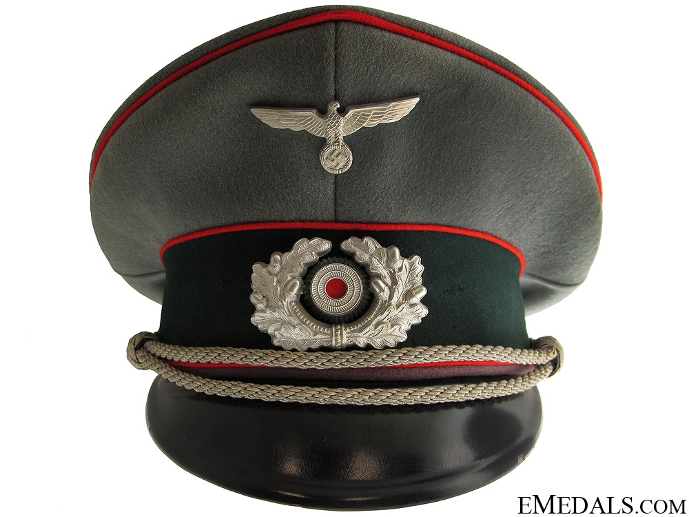 eMedals-WWII Army Flak Officer's Visor Cap