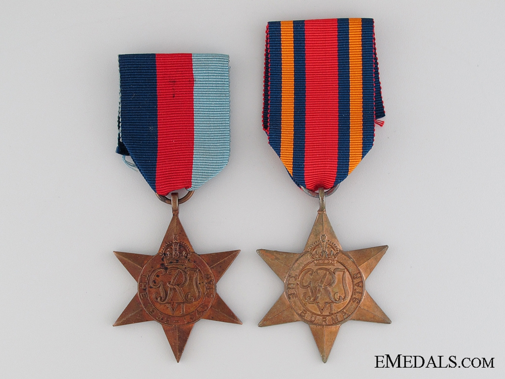 eMedals-WWII British Burma Theatre Pair