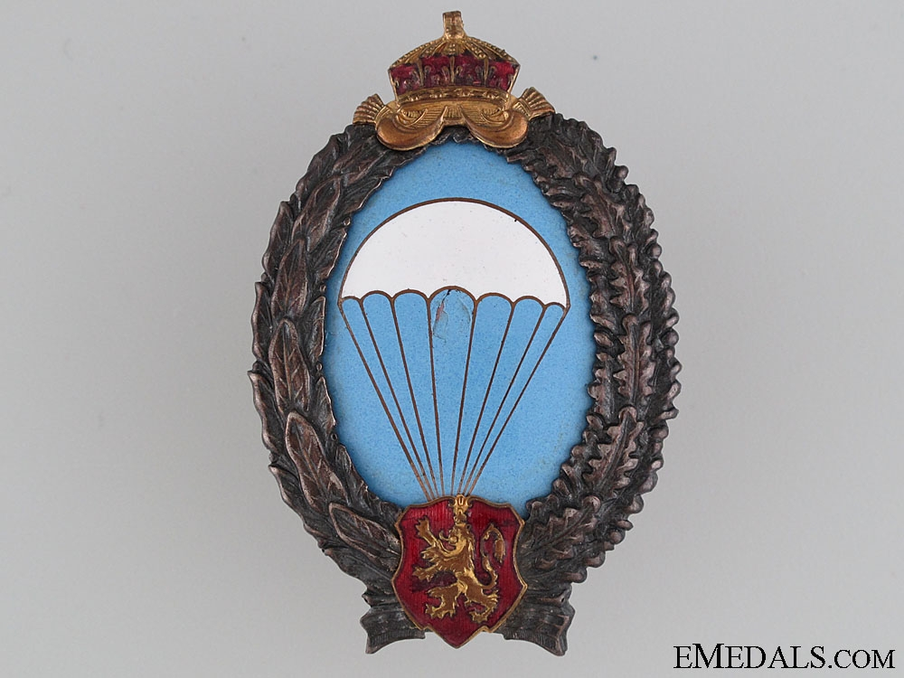 eMedals-WWII Bulgarian Paratrooper's Badge