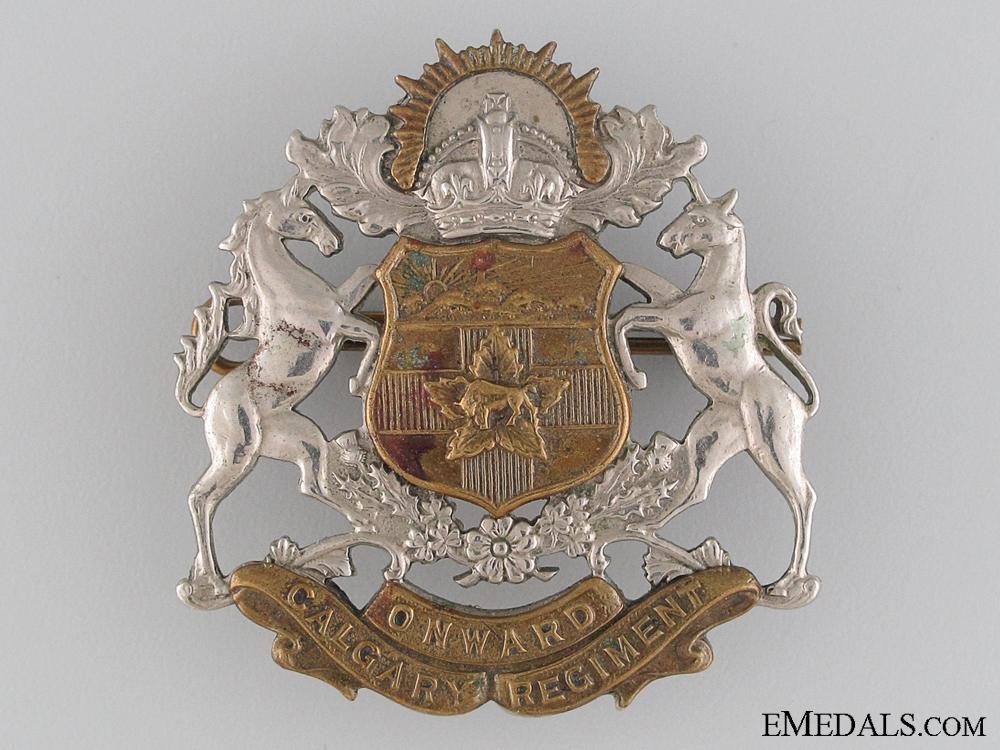 eMedals-WWII Calgary Regiment (Tank) Cap Badge
