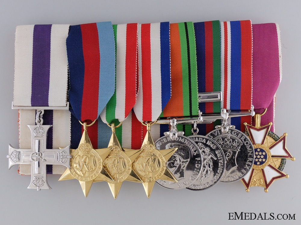 eMedals-WWII Canadian Awards for Action in Sicily & Chemical Warfare Analysis