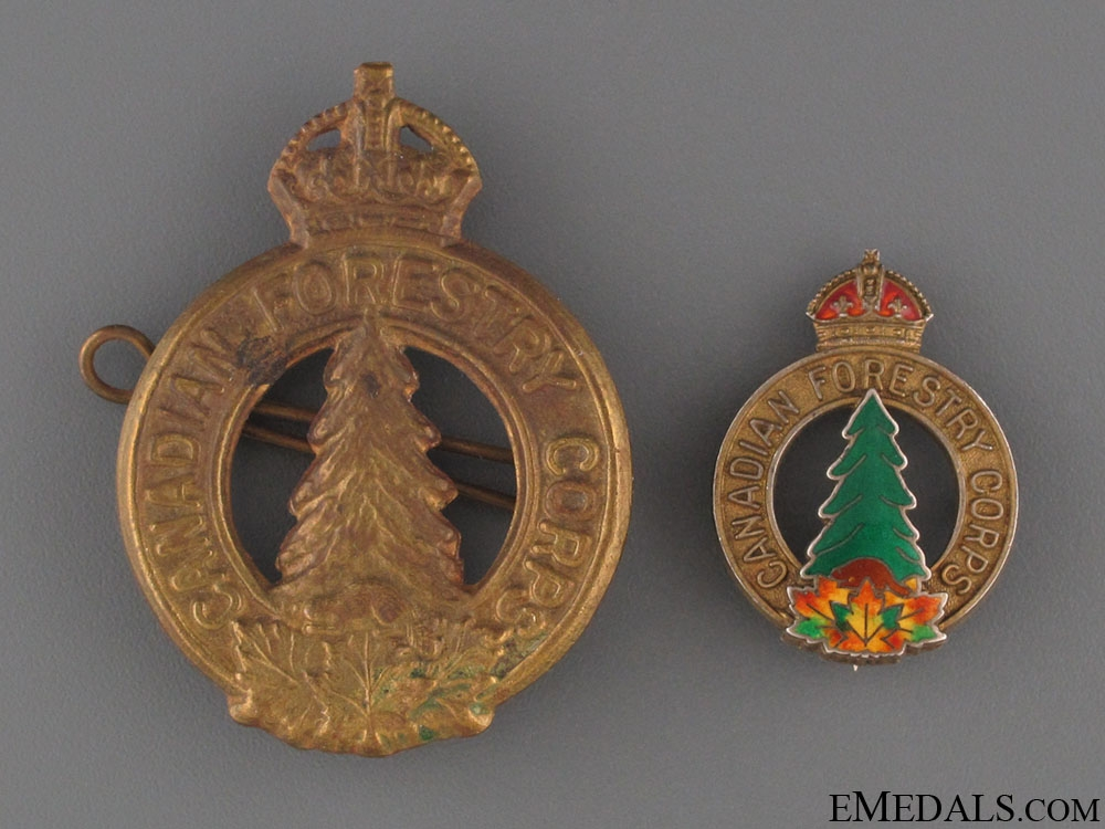 eMedals-WWII Canadian Forestry Corps Badges