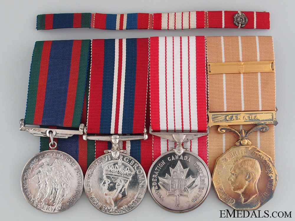 eMedals-WWII Canadian Forces Medal Bar