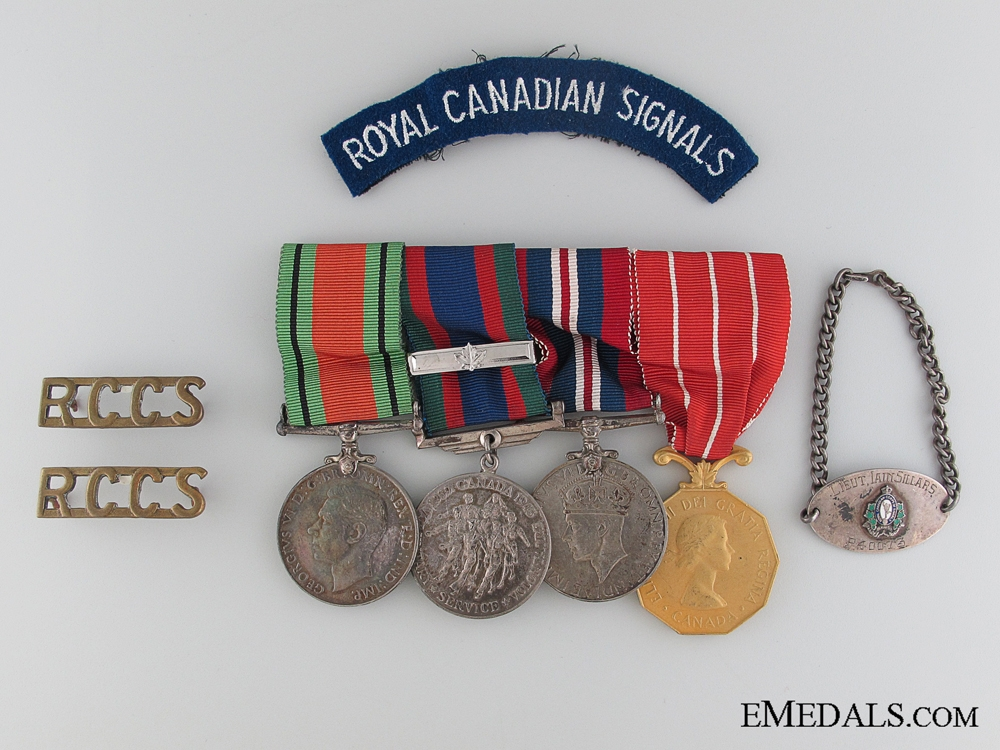 eMedals-WWII Canadian Forces Group to CAPT. I. Sillars