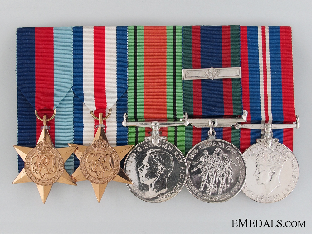 eMedals-WWII Canadian Group of Five