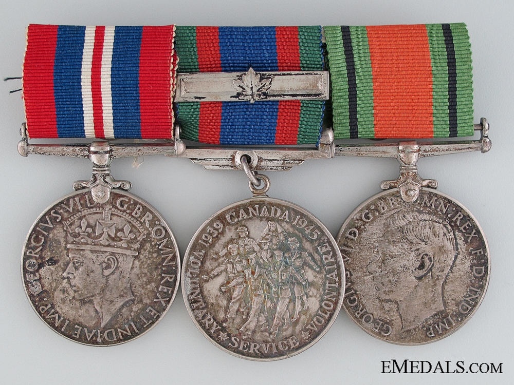 eMedals-WWII Canadian Group of Three