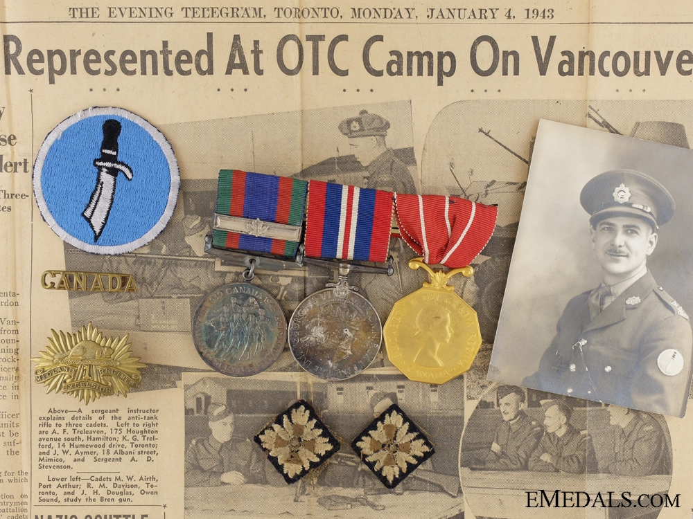 eMedals-WWII Canadian Group to Captain Gilbert of the Midland Regiment