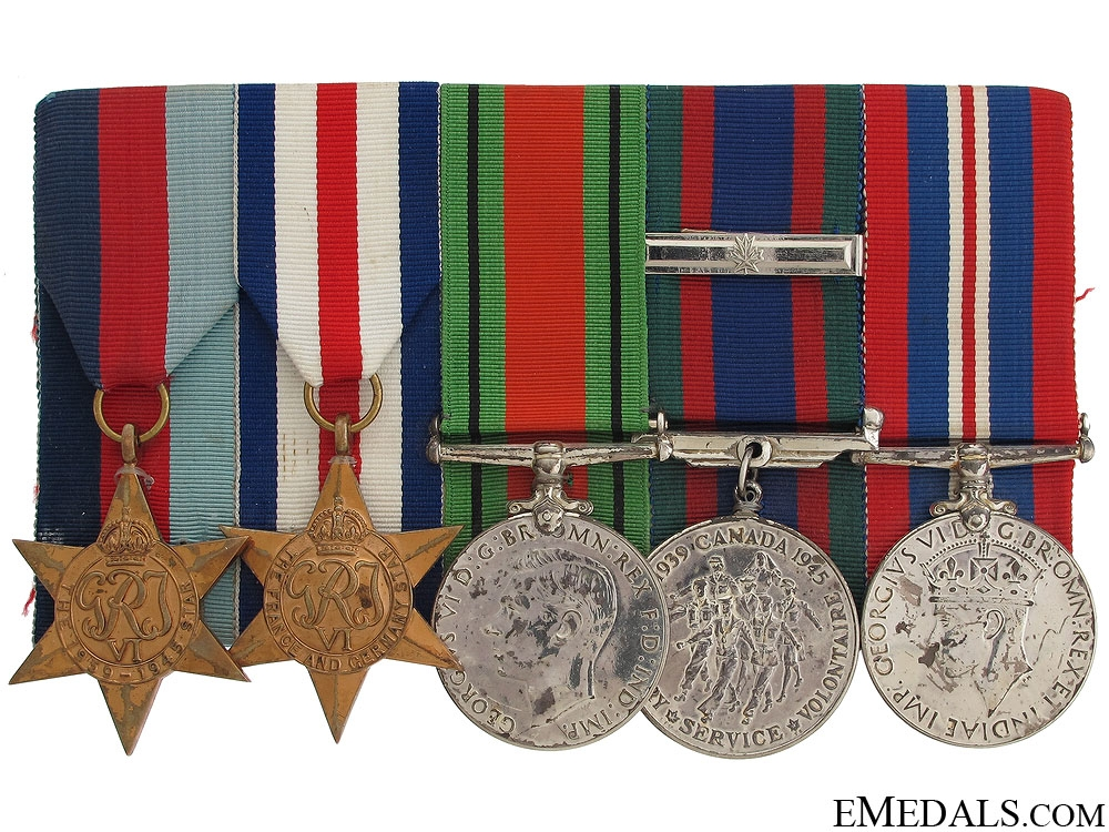 eMedals-WWII Canadian Medal Group