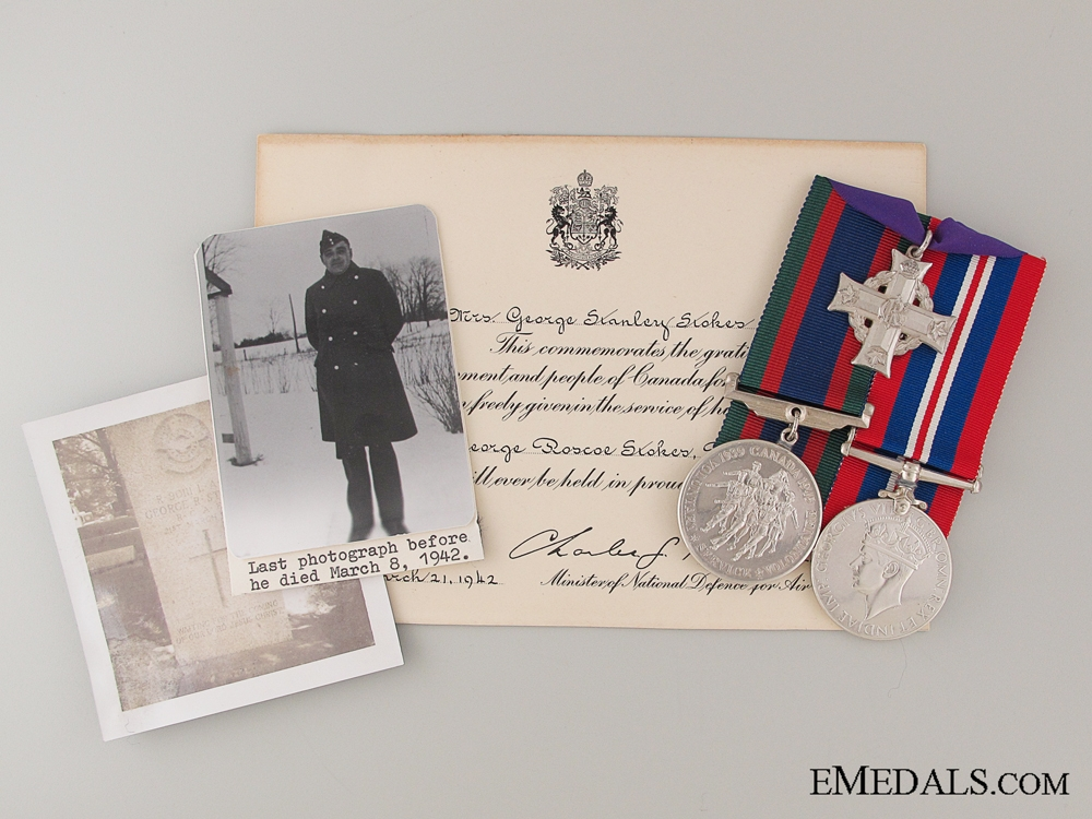 eMedals-WWII Canadian Memorial Cross Trio