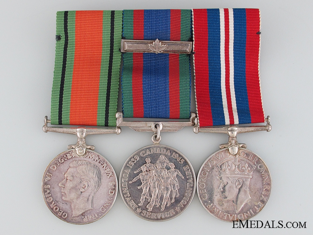 eMedals-WWII Canadian Medal Group of Three