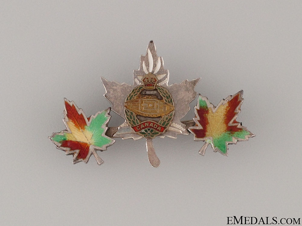 eMedals-WWII Canadian Tank Corps Pin