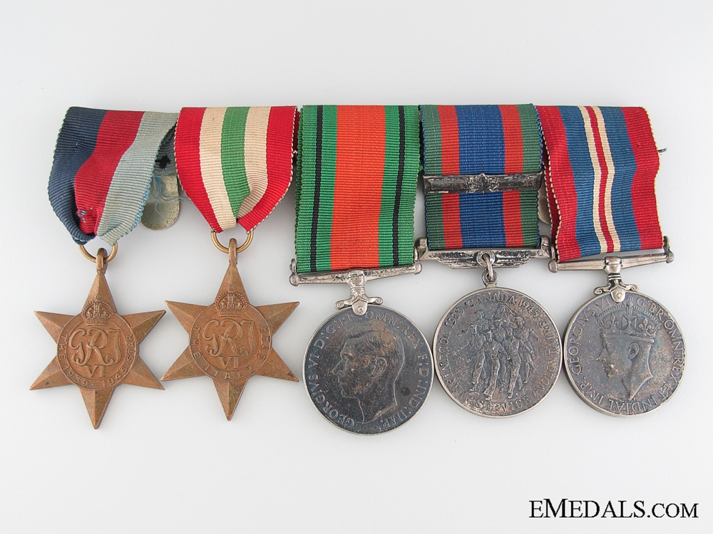 eMedals-WWII Canadian Veteran's Group of Five