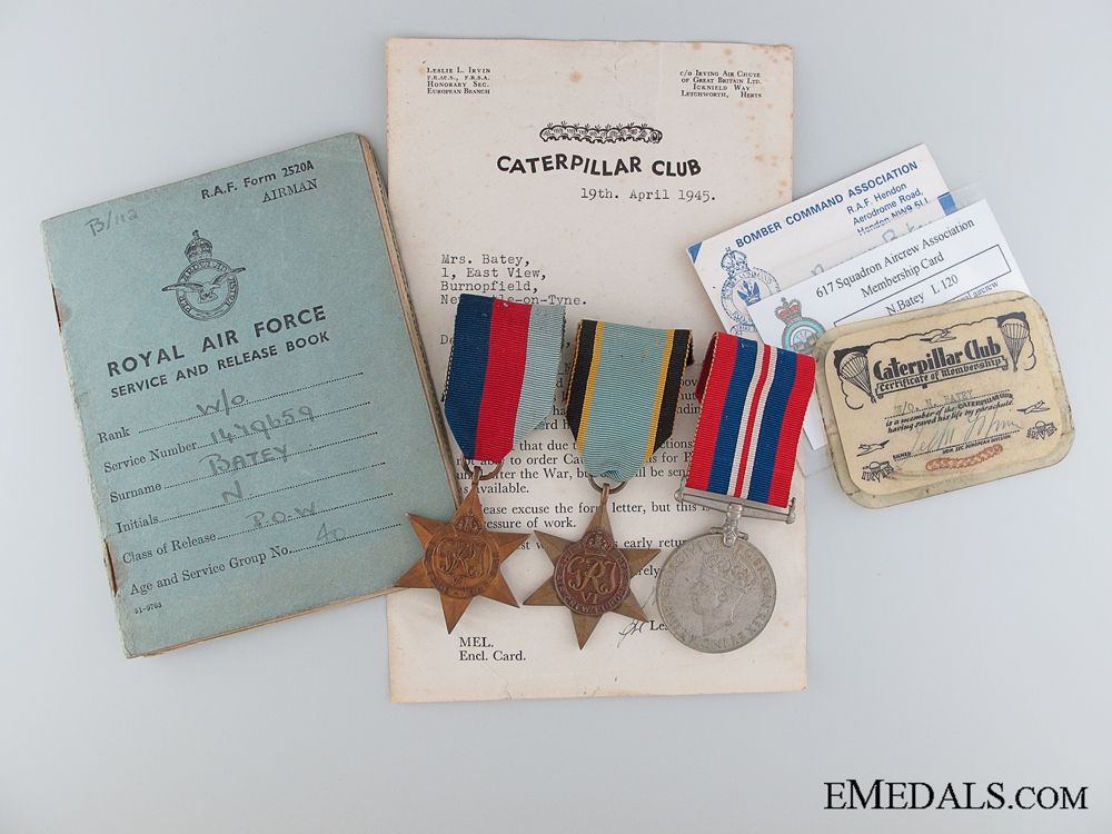 eMedals-WWII Caterpillar Club Member Group RAF