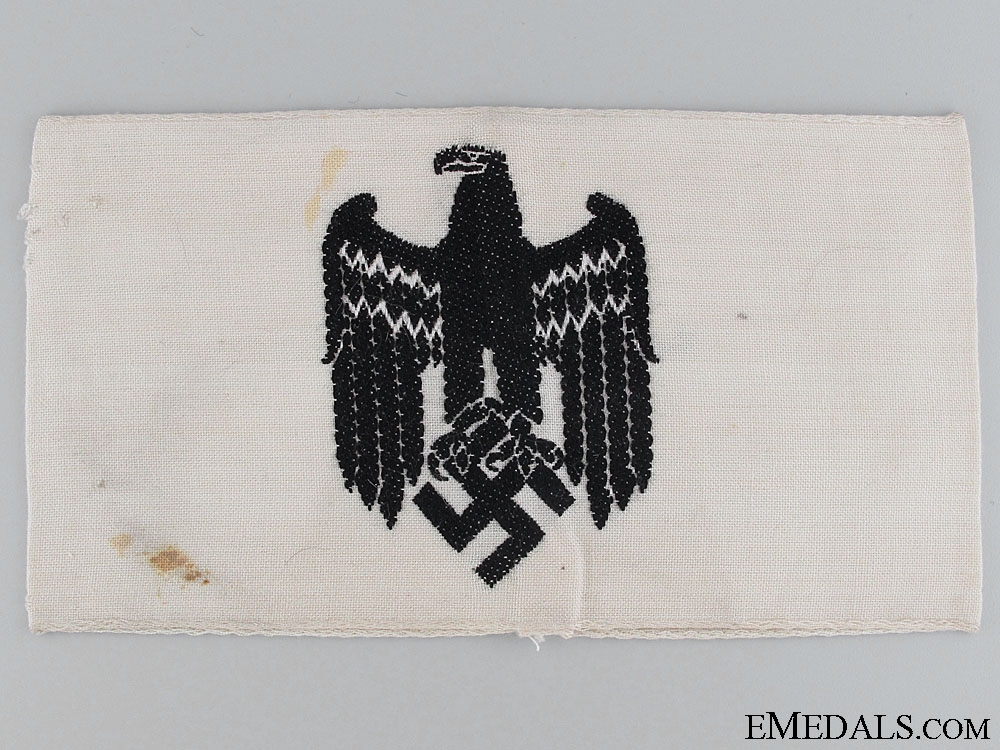 eMedals-WWII Civilian In Service To The Army Armband