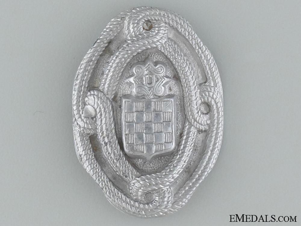 eMedals-WWII Croatian Home Army EM Cap Badge