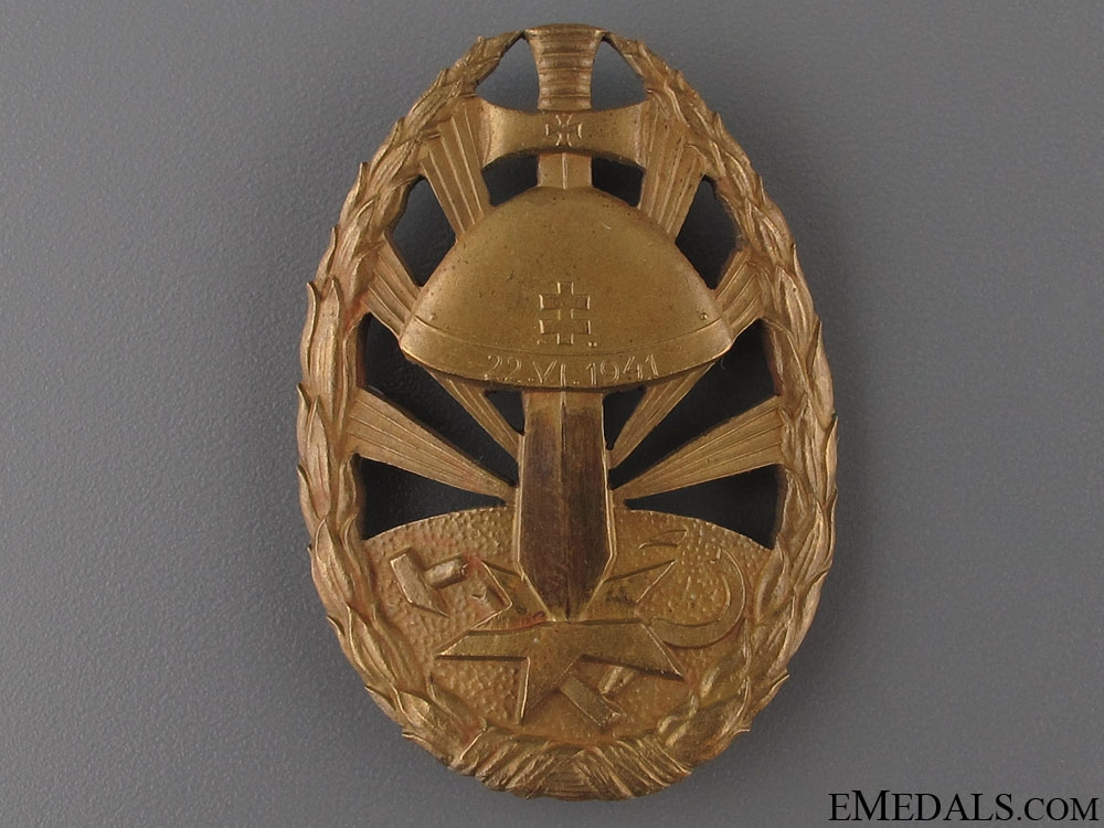 eMedals-WWII Eastern Front Service Badge of Honour