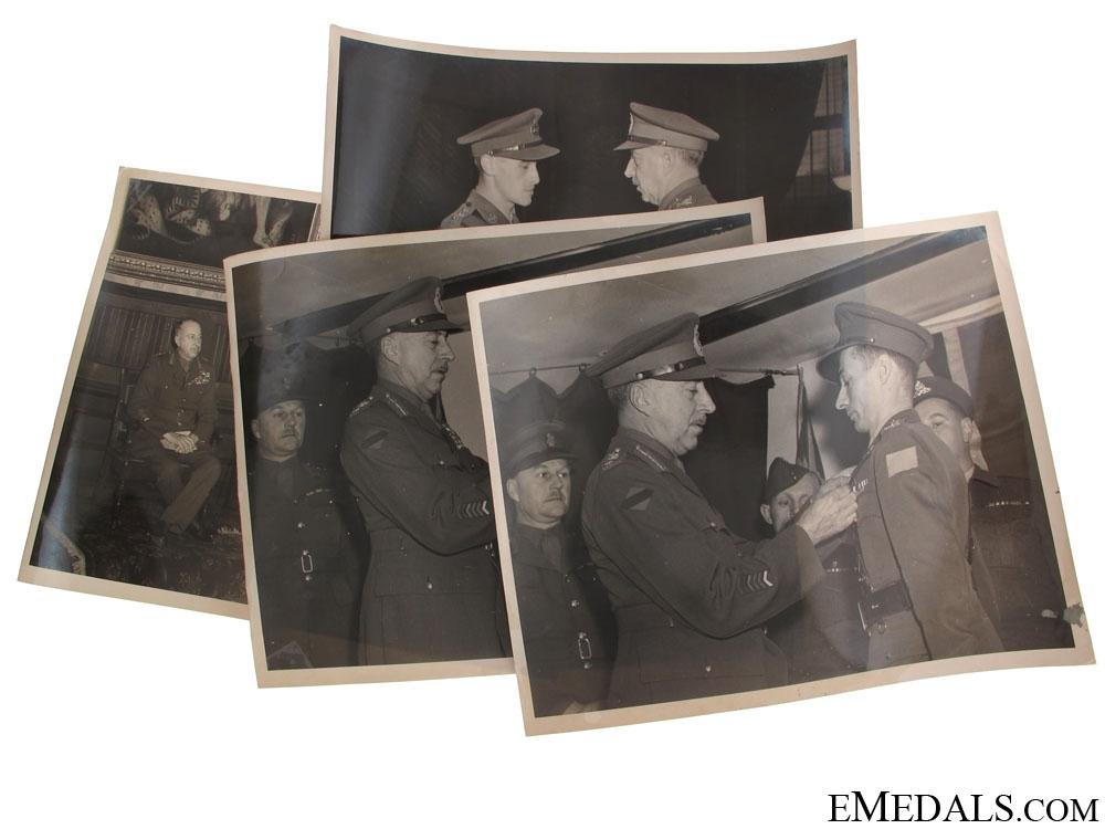 eMedals-WWII General H.D.G. Crerar Press Release Photos