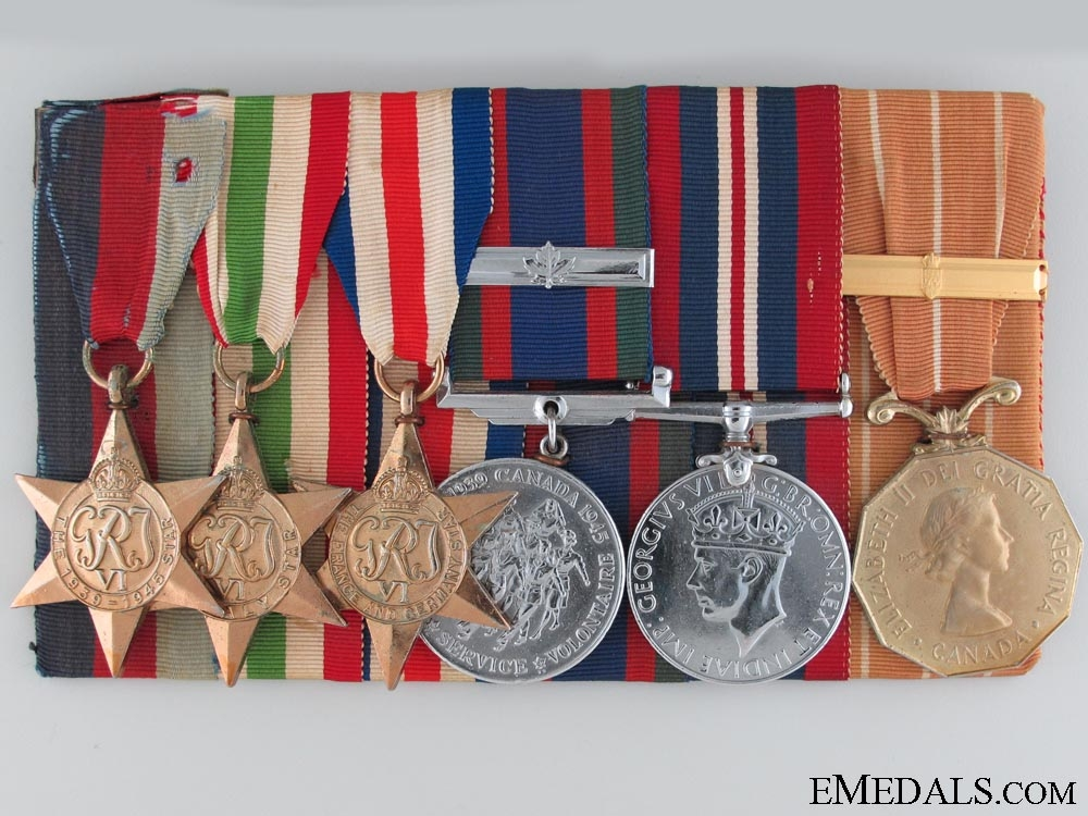 eMedals-WWII Group of Six to Sergeant J.P. Ouellette