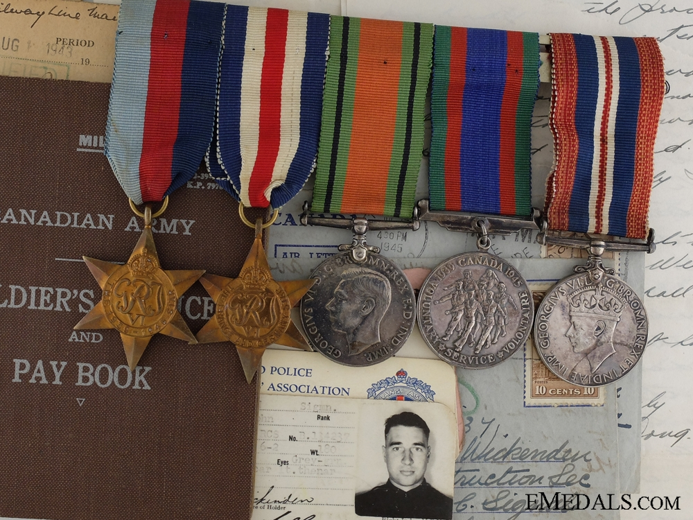 """eMedals-WWII Group to John """"Jack"""" Wickenden Royal Canadian Corps of Signals"""