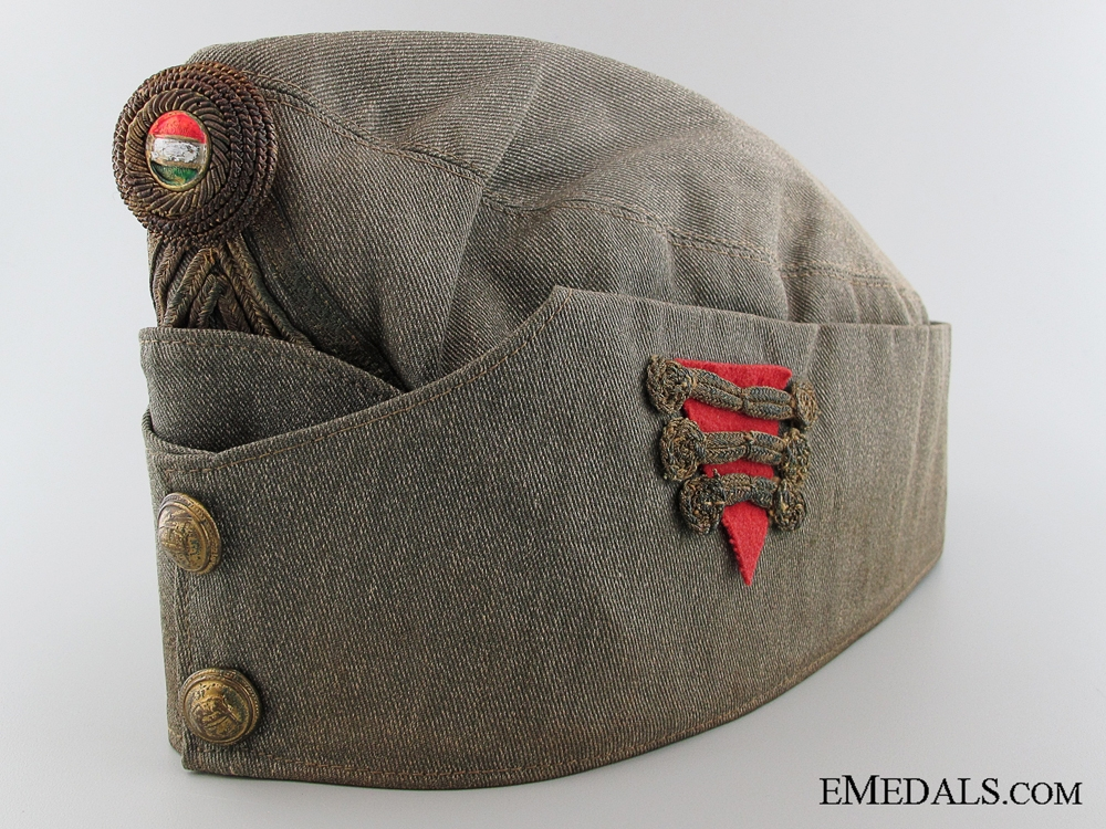 eMedals-WWII Hungarian Artillery Officer's Side Cap