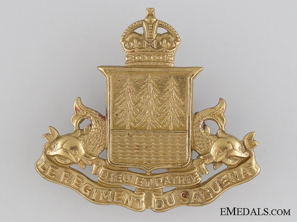 eMedals-WWII Le Régiment du Saguenay Cap Badge