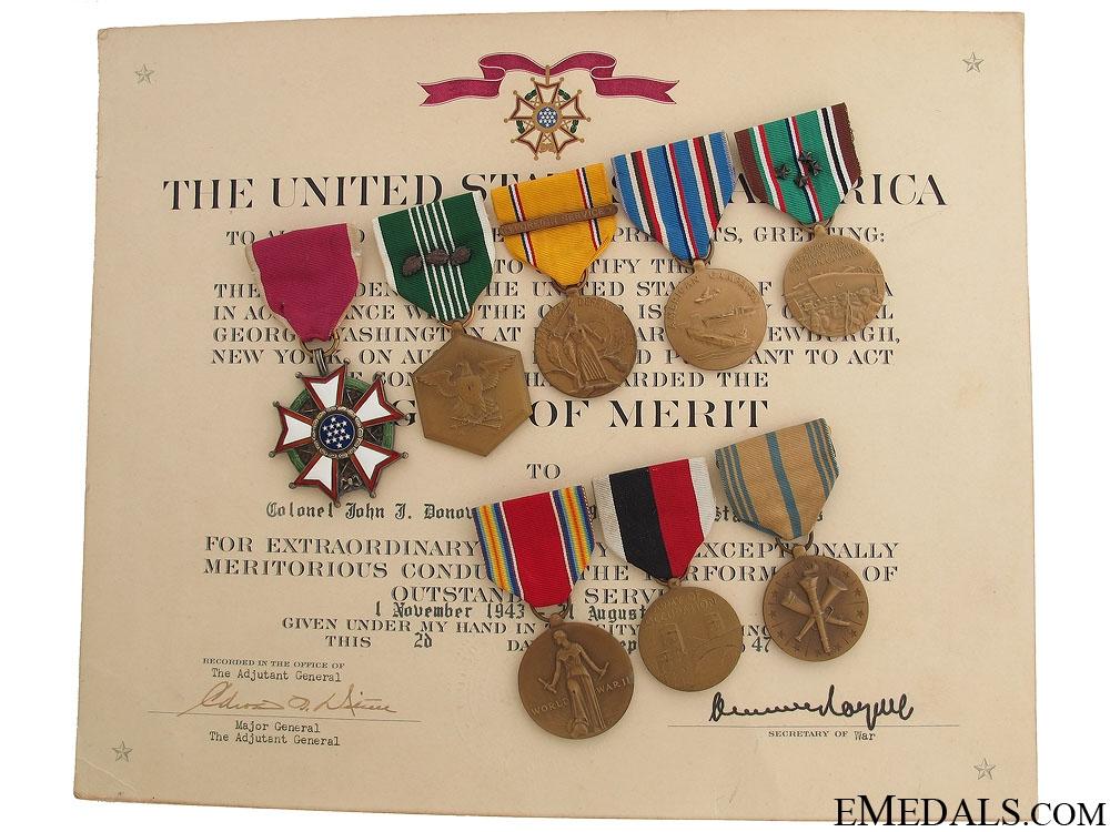 eMedals-WWII Legion of Merit Group to Major John J. Donovan
