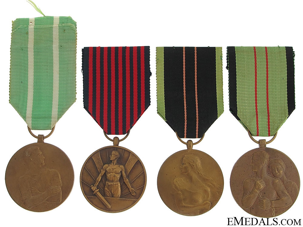 eMedals-Four Belgian WWII Medals 1940-1945