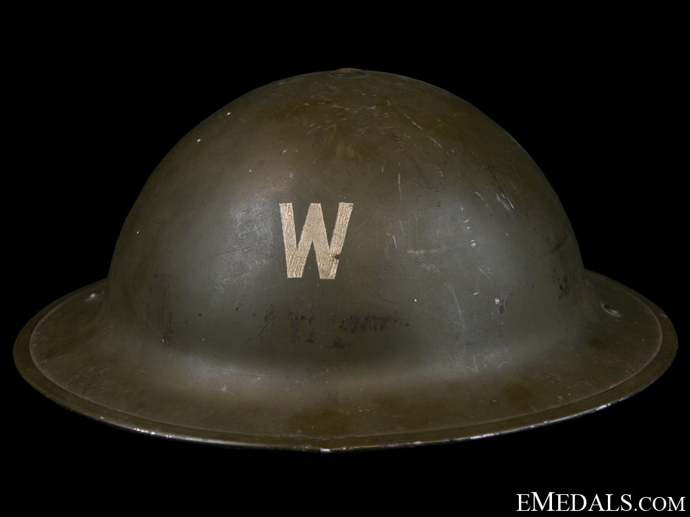 eMedals-WWII Mark I Air Raid Precautionary (ARP) Warden's Helmet