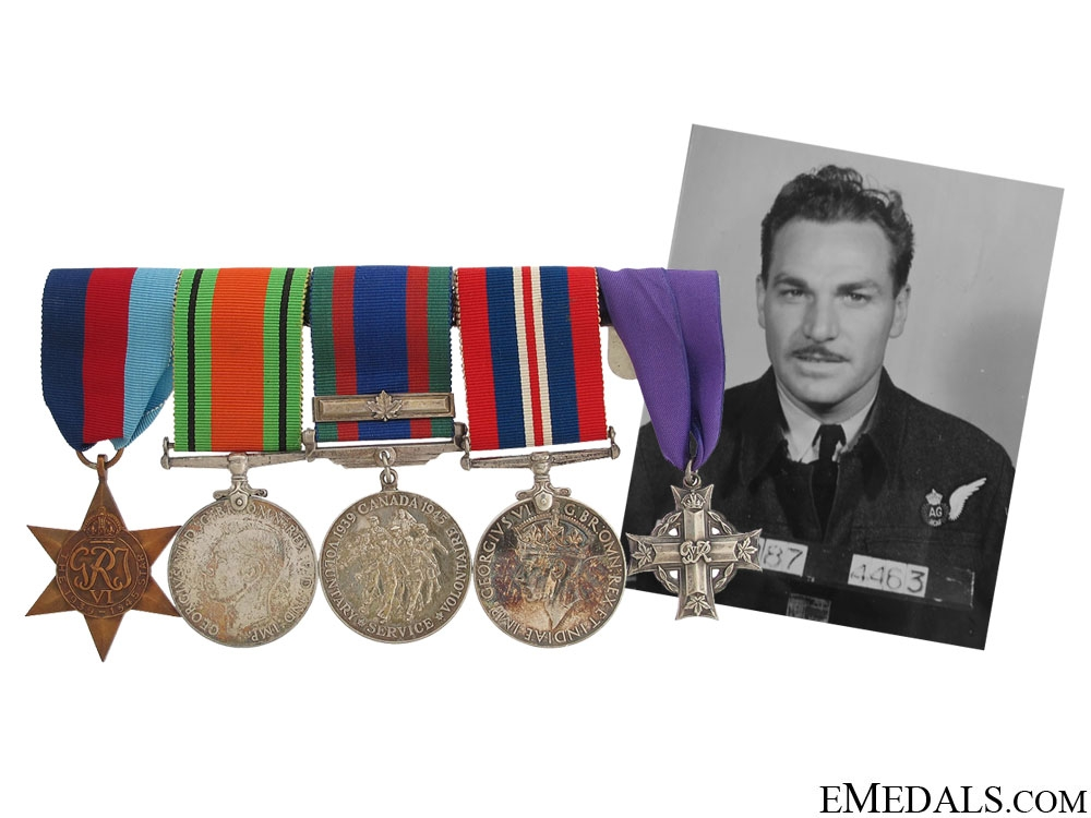 eMedals-WWII Memorial Group to Air Gunner A.W.Ellis RCAF