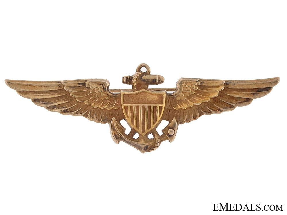 eMedals-WWII Naval Aviator Badge