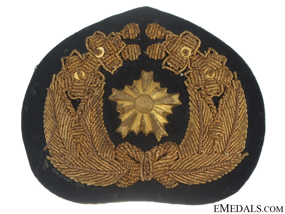 eMedals-WWII Navy Officer's Cap Badge