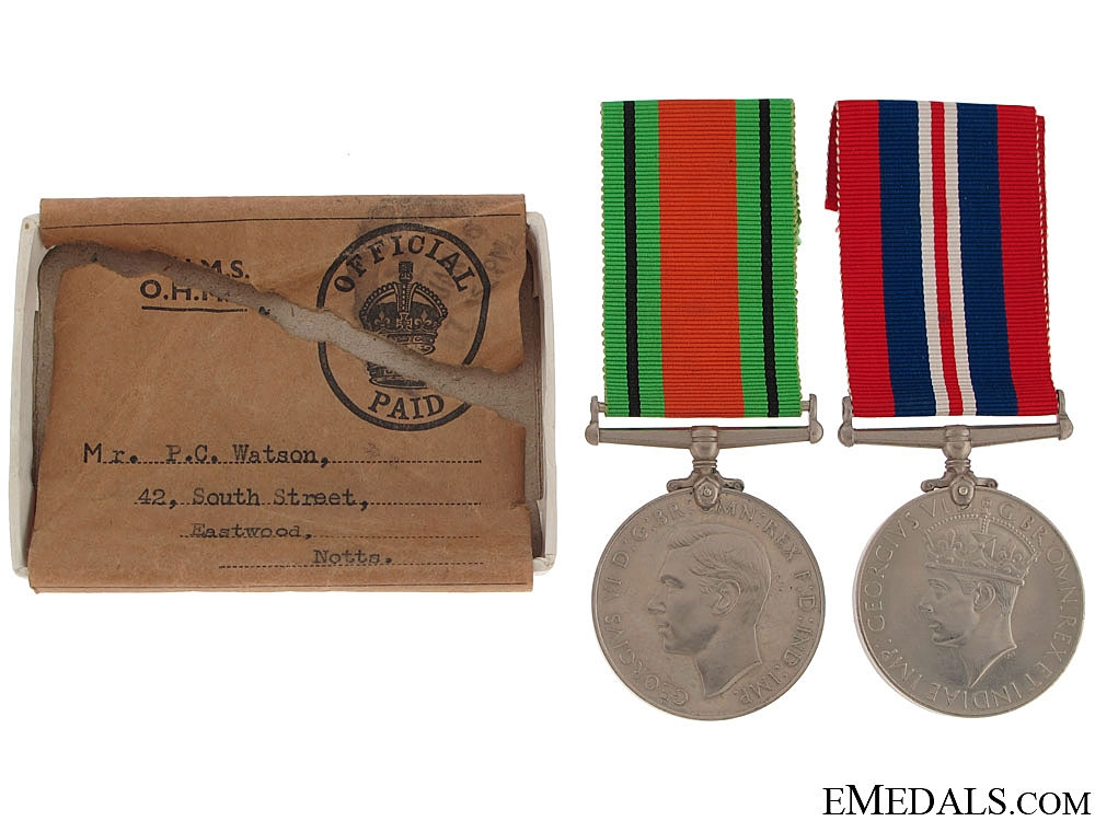 eMedals-WWII Pair to Royal Air Force Volunteer Reserve KIA