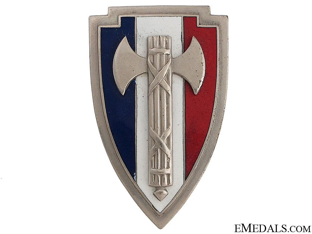 eMedals-WWII Period French Fascist Badge