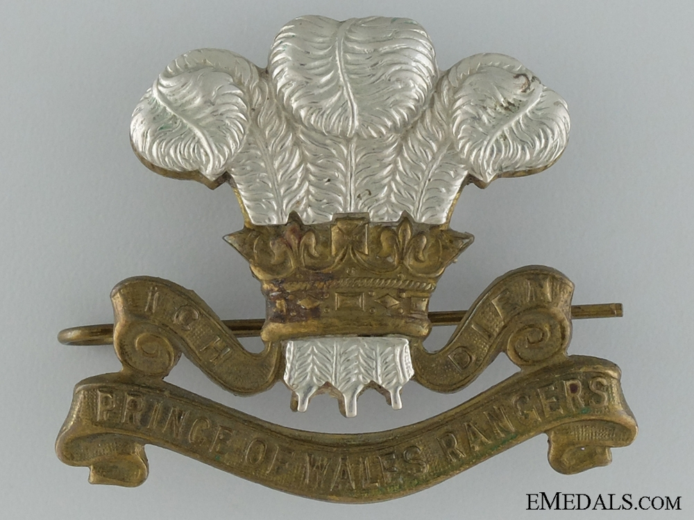 eMedals-WWII Prince of Wales Rangers (Peterborough Regiment) (MG) Cap Badge