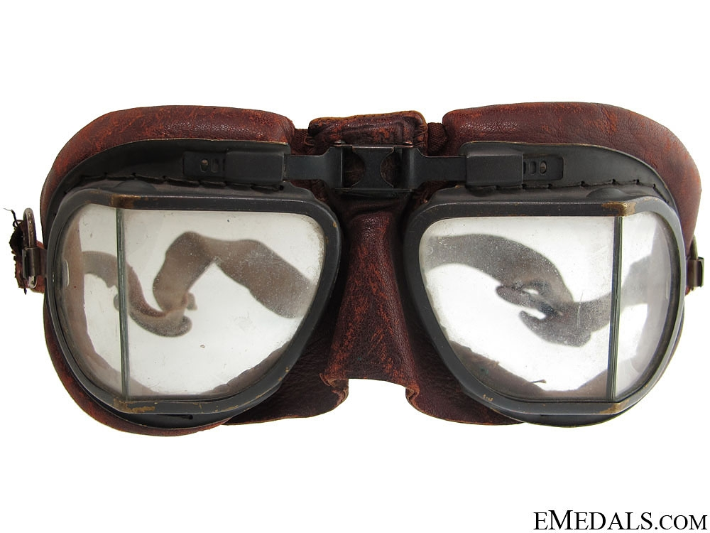 eMedals-WWII RAF MARK 8 PILOTS FLYING GOGGLES