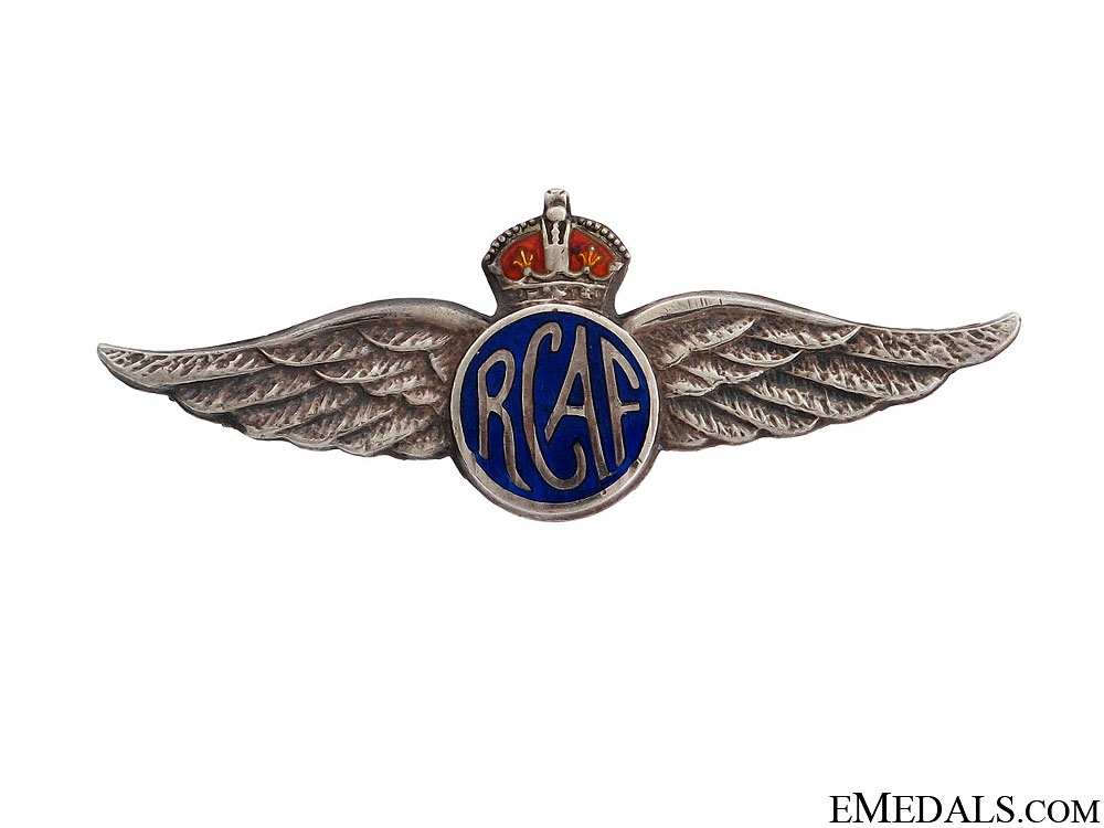 eMedals-WWII RCAF Sterling Silver Pin