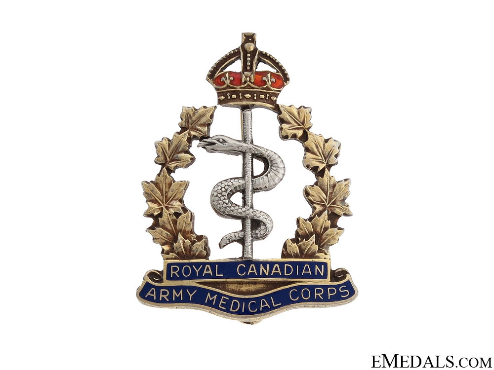 eMedals-WWII Royal Canadian Medical Corps Pin by Birks