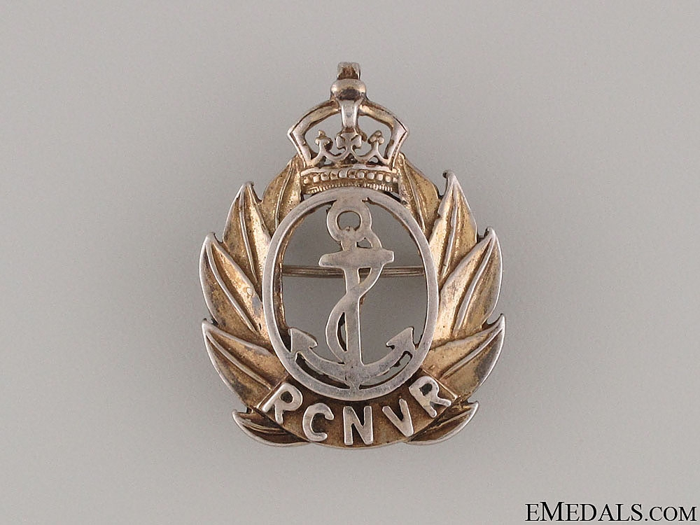 eMedals-WWII Royal Canadian Naval Volunteer Reserve Pin