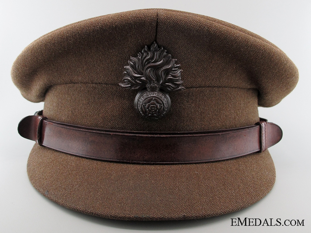 eMedals-WWII Royal Fusiliers Officer's Peaked Cap