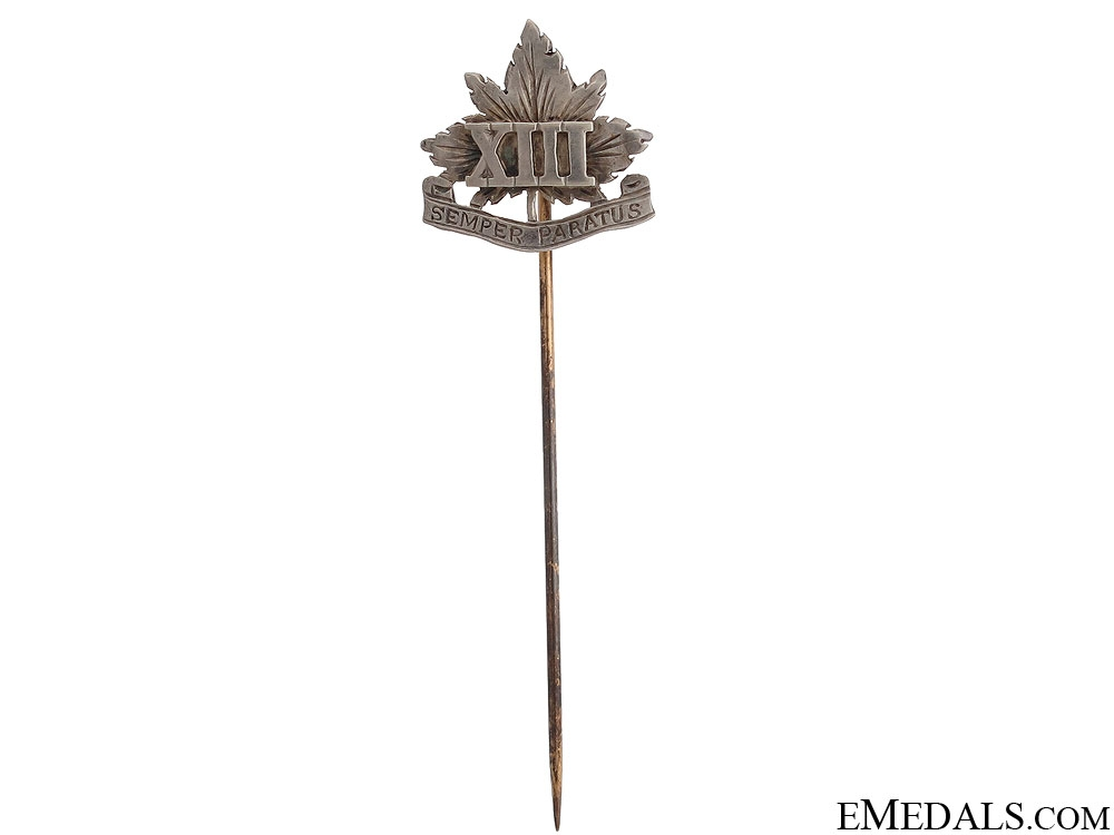 eMedals-WWII Royal Hamilton Light Infantry Stickpin