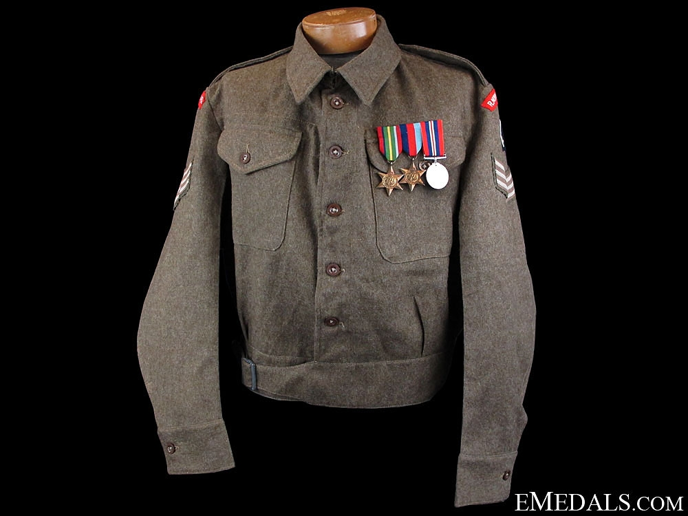 eMedals-WWII Royal Northumberland Fusiliers Battledress 1945