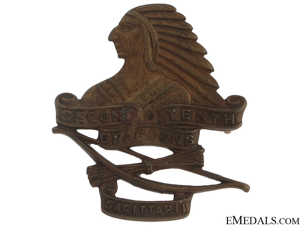 eMedals-WWII Second-Tenth Dragoons (Hamilton, ON) Cap Badge