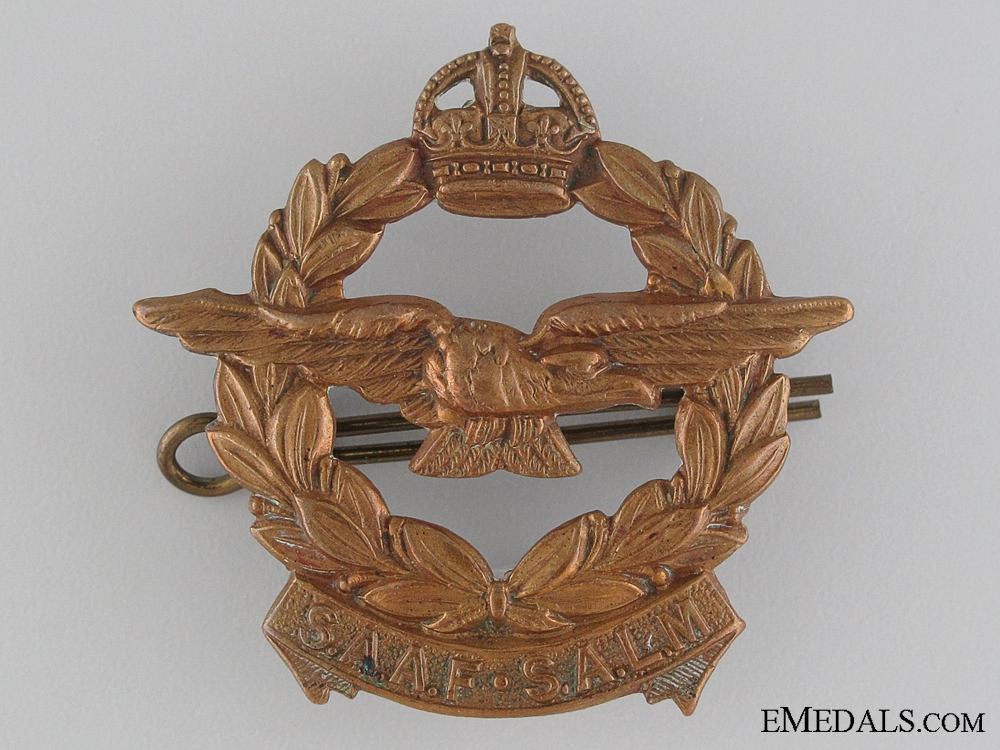 eMedals-WWII South African Air Force (SAAF) Cap Badge