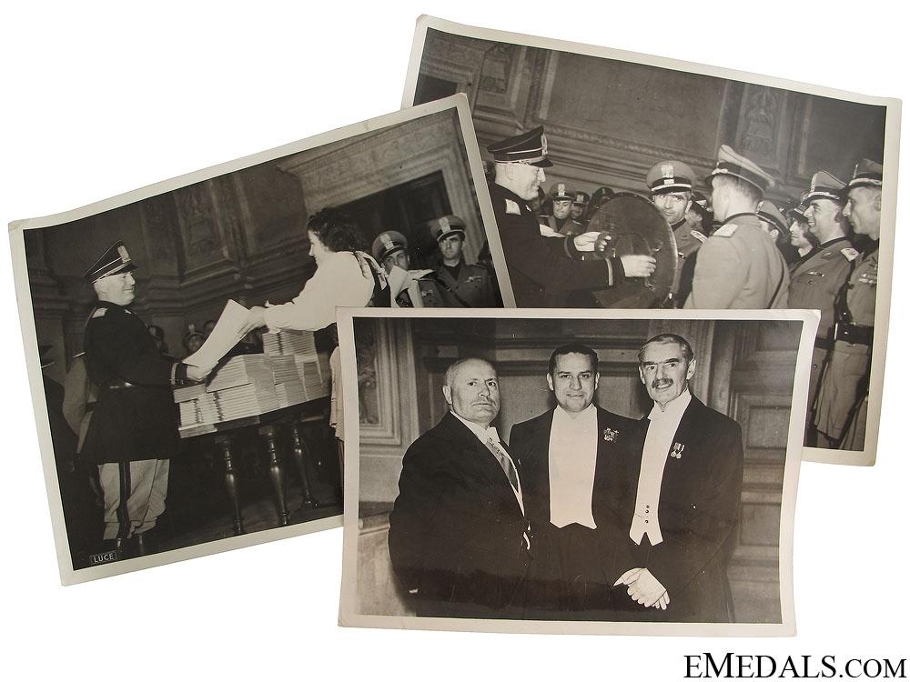eMedals-WWII Three Mussolini Press Photos
