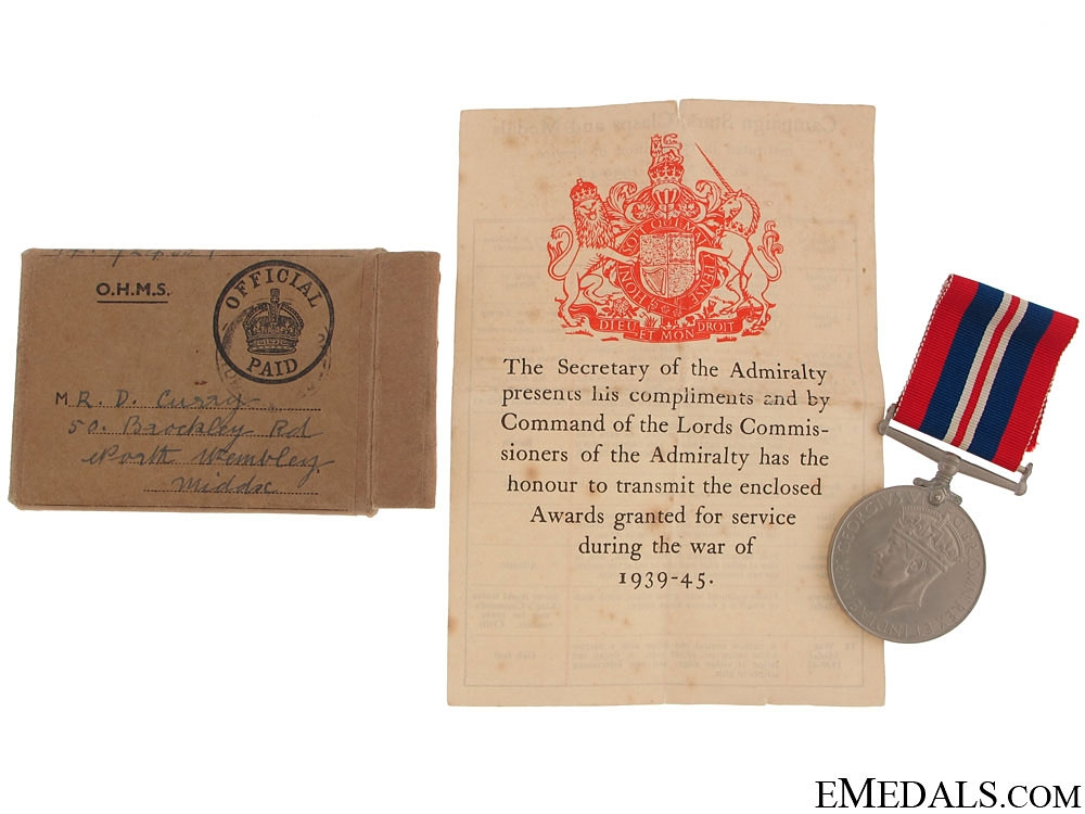 eMedals-WWII War Medal 1939-1945