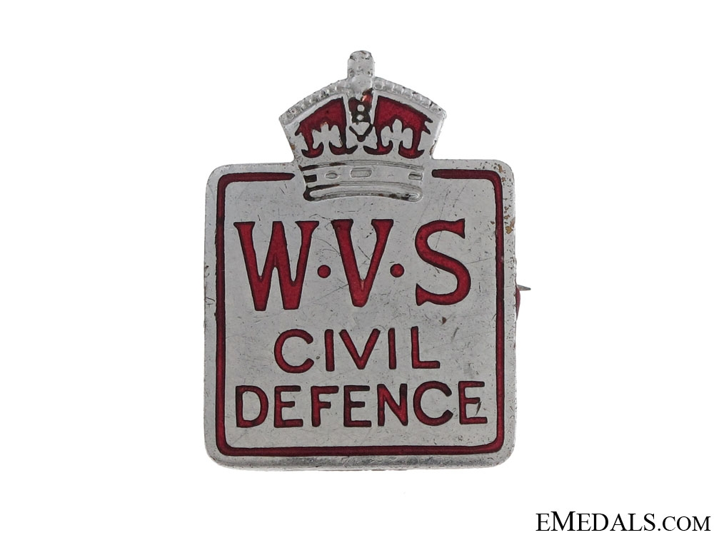 eMedals-WWII Women's Voluntary Service for Civil Defence Badge