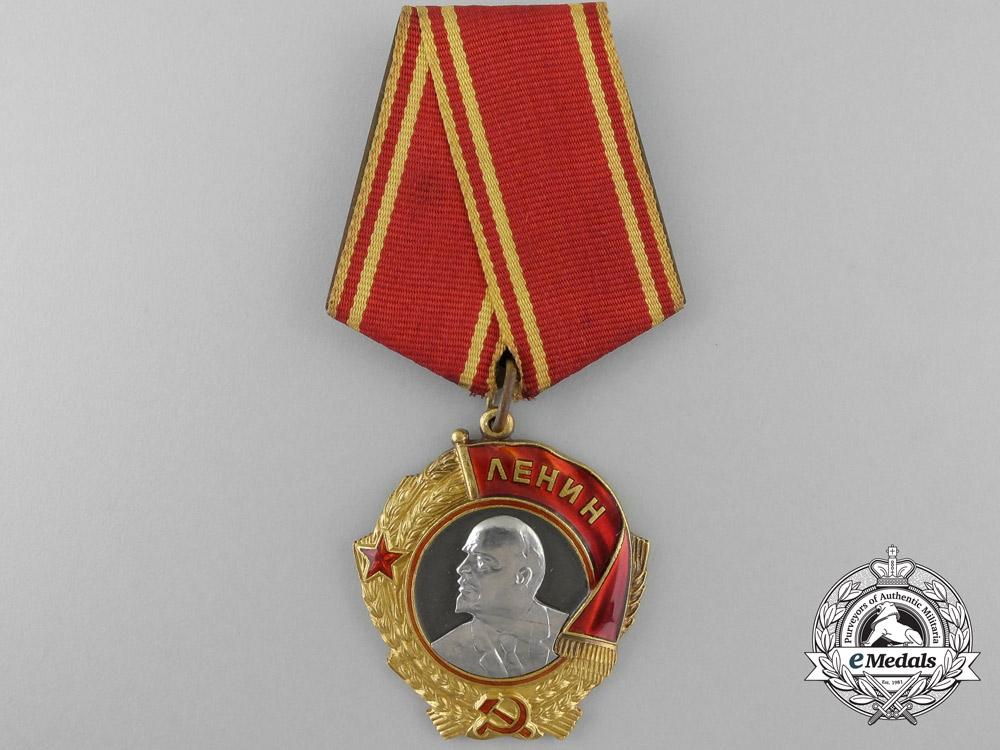 eMedals-A Second War Period Soviet Order of Lenin in Gold & Platinum