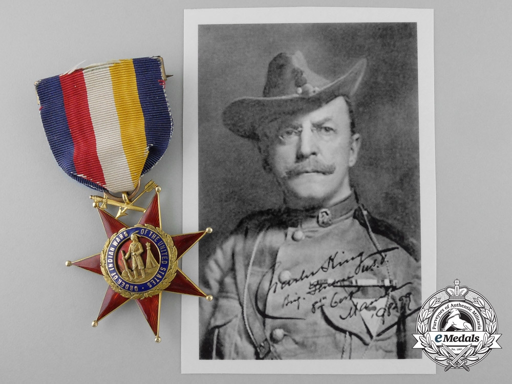 eMedals-An Order of the Indian Wars to General & Writer Charles King, Congressional Medal of Honor Winner
