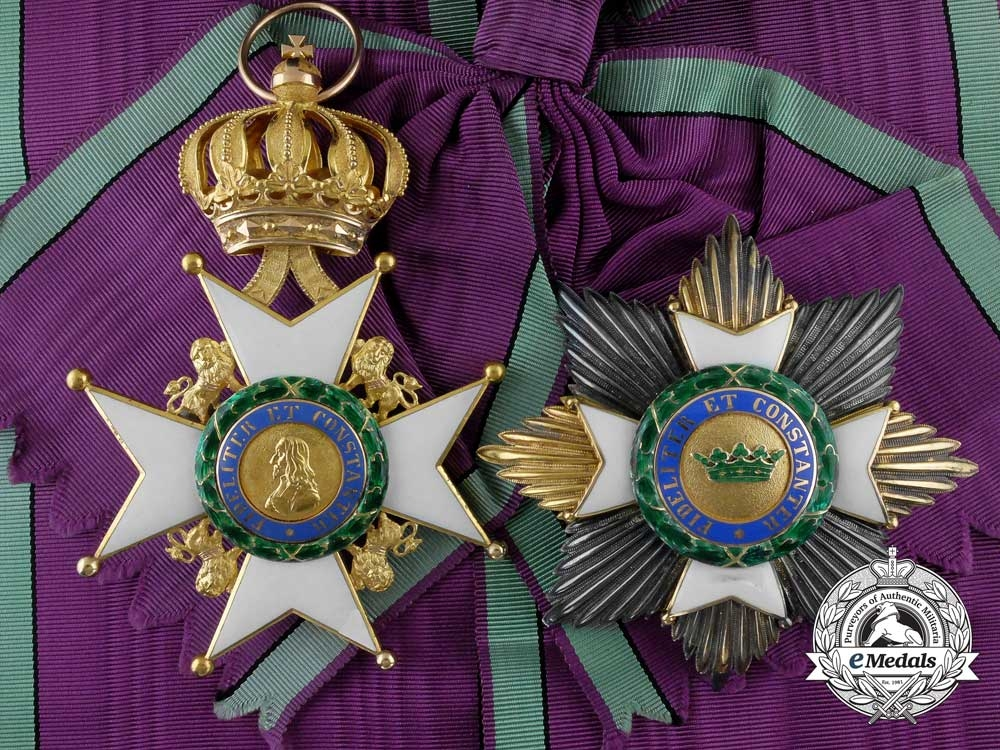 eMedals-A Saxe-Ernestine House Order in Gold; Grand Cross Set of Insignia