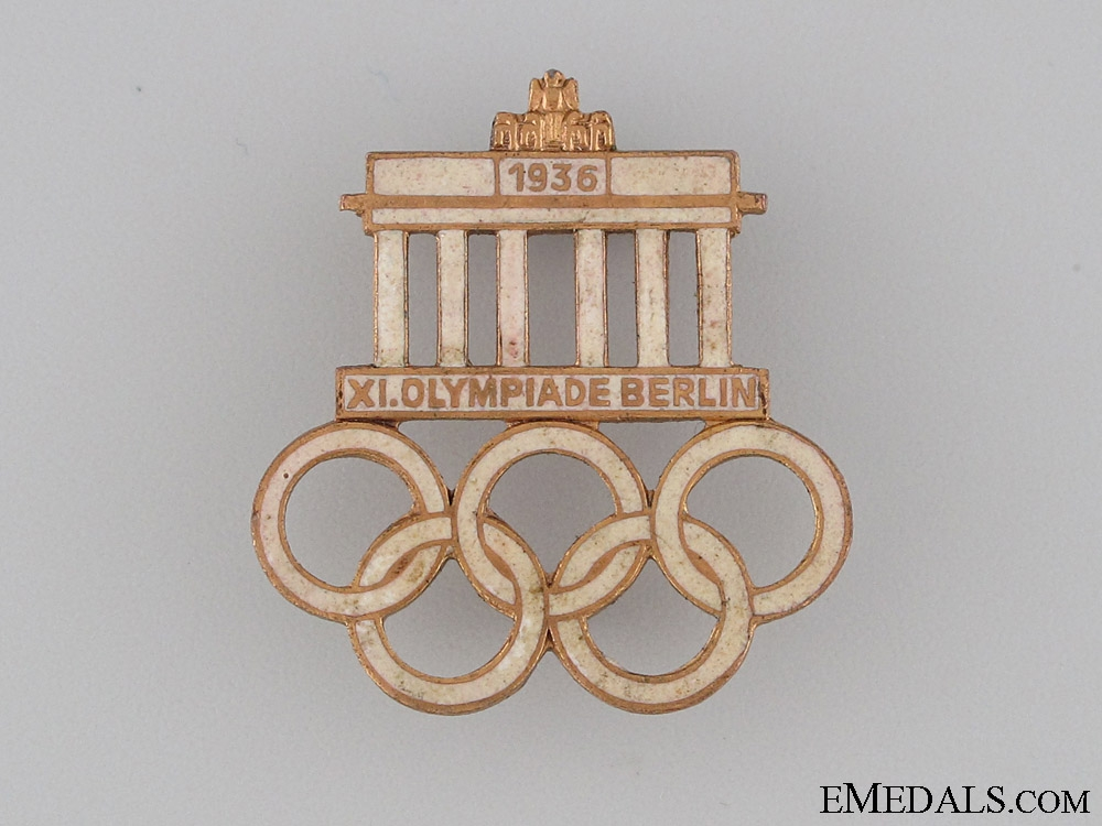 eMedals-XI Summer Olympic Games Pin 1936